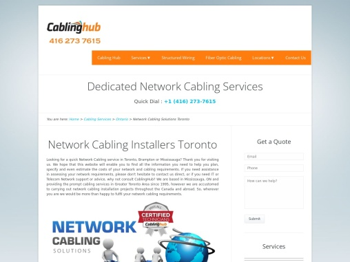 Network Cabling Installers Toronto Canada