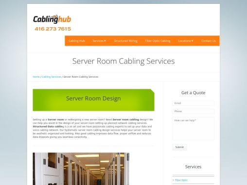 Server Room Cabling Services in Toronto Canada