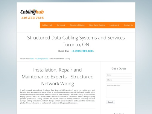 Structured Data Cabling Services | CablinHub