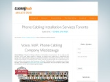 Voice, VoIP, Phone Cabling Services Toronto Canada