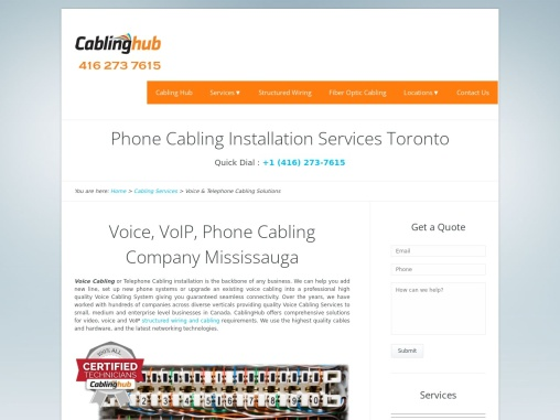 VoIP Phone System and Telephone Wiring Toronto