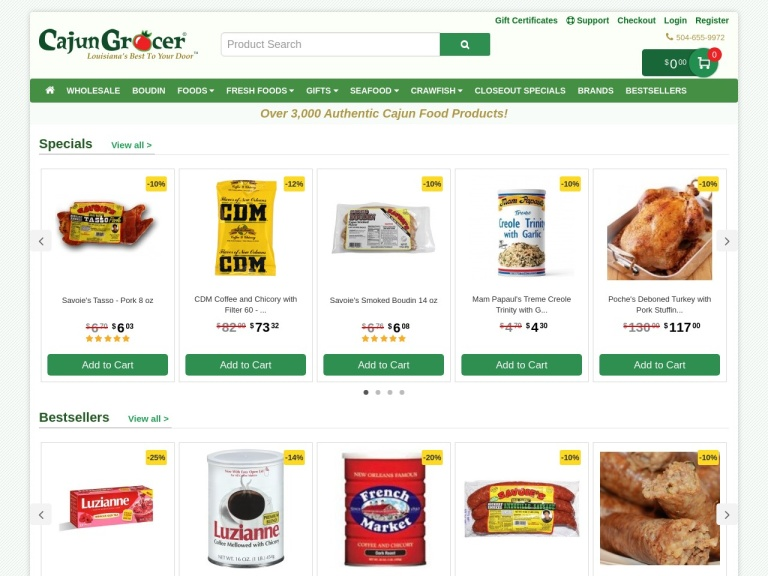 Cajun Grocer screenshot