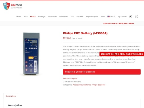 Philips FR2 Battery (M3863A)..