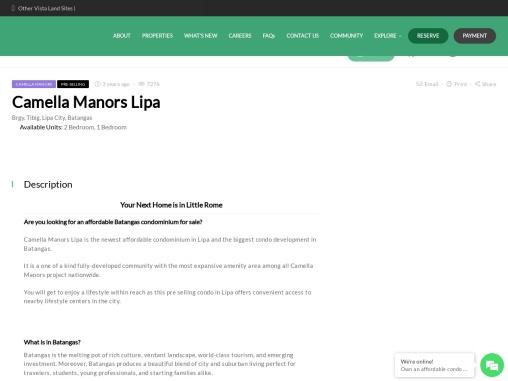 Condo in Lipa | Camella Manors Lipa