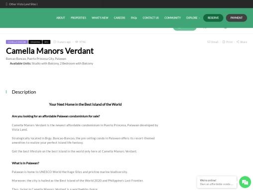 Condo in Palawan | Camella Manors Verdant