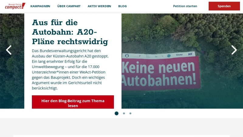www.campact.de Vorschau, Demokratie in Aktion