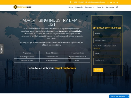 Best Advertising Industry Mailing List Providers  USA