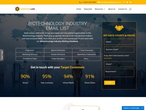 Best Biotechnology Industry Email List | Biotechnology B2B Data