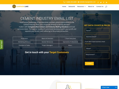 Top Cement Industry Email List | Cement B2B Mailing Leads| USA