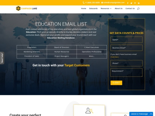 New Education Industry Email List | Education Services Mailing Lists