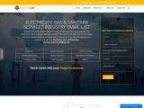 Best Electricity, Gas, Sanitary Service Industry Email List | Mailing Data