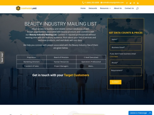 Best Beauty Industry Mailing List  Beauty Industry Email Leads -USA