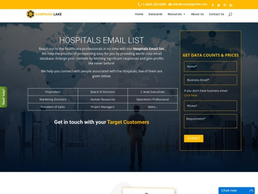 USA Best Hospitals Email List| Hospital Mailing Database Providers
