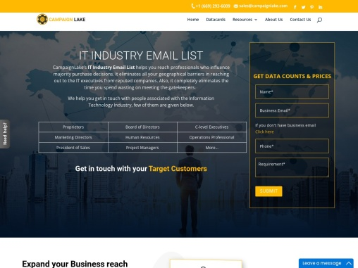 New IT Industry Email List   B2B Technology Database  USA