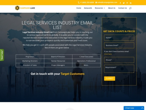 New Legal Services Industry Email List | Legal Services Marketing Database| USA
