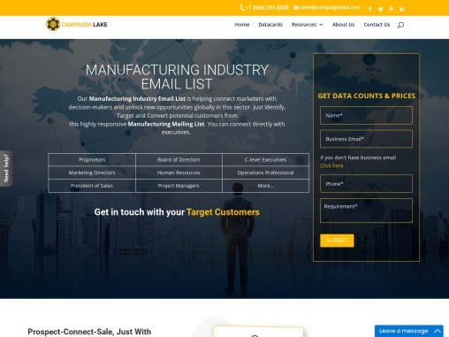 New Manufacturing Industry Email List | Manufacturing Company Database |USA