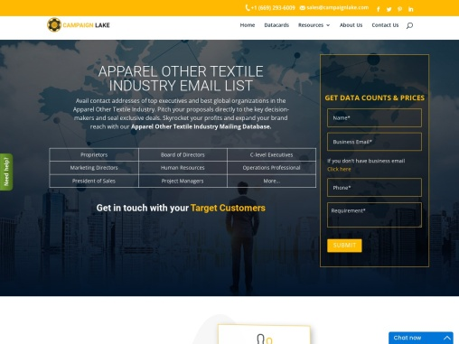 Best Apparel Other Textile Industry Email List | Textile Industry Database Providers