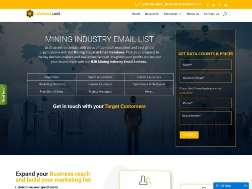 New Mining Industry Email List | Mining Companies Mailing Database | USA