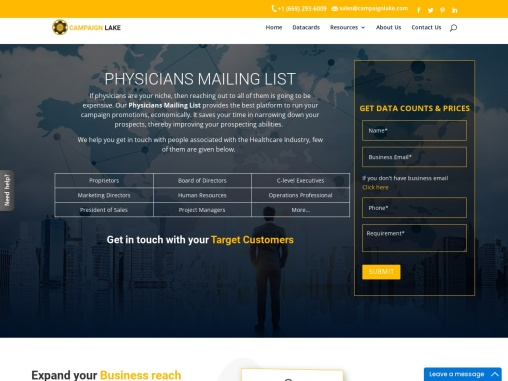 Top Physicians Mailing Lists | Physician Email Address Database| USA