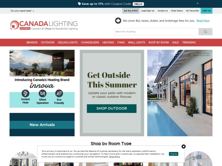 Canada Lighting Experts screenshot