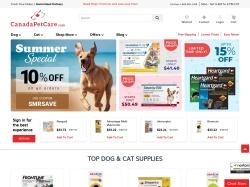 CanadaPetCare.com screenshot