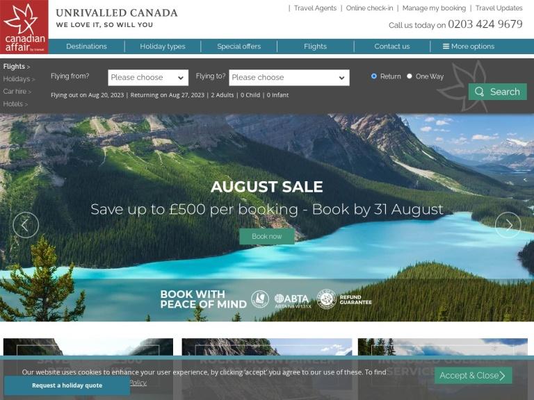 canadianaffair.com screenshot