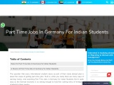 Part Time Jobs in Germany For indian Students