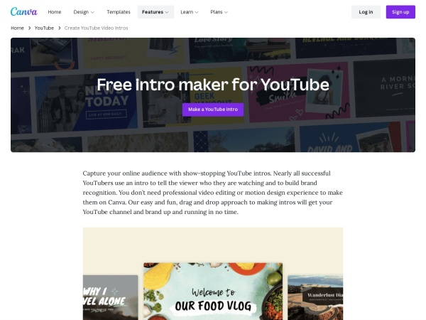 Canva  - Free and Best YouTube Intro Maker (2020)