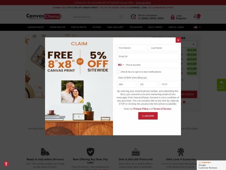 Canvas Champ Coupon Codes & Promo codes