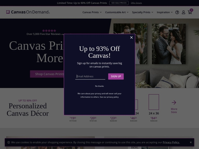 Canvas On Demand- Photos Become Canvas Art screenshot