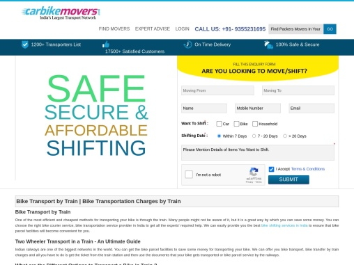Bike Transport by Train – Bike Transportation Charges by Train