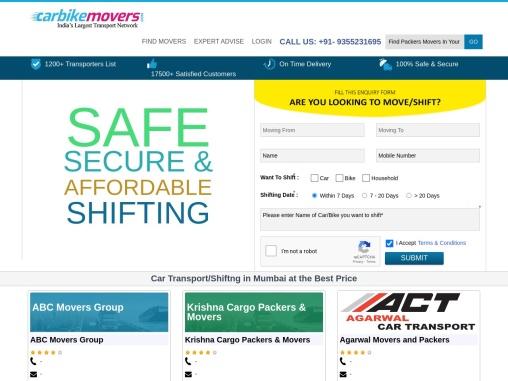 Car Transportation Services in Mumbai – Carbikemovers.com