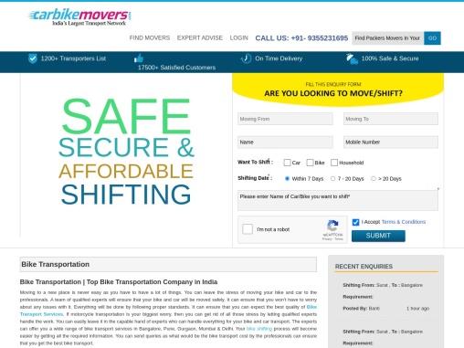 Bike Transport Service – Bike Parcel, Relocation in India