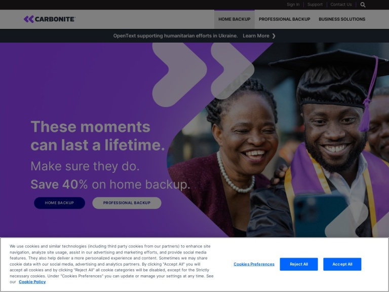 Carbonite Offer Code screenshot