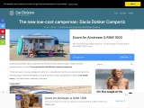A new Dacia Dokker Camper from 18,990 euros