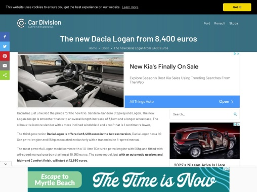 The new Dacia Logan with a 1.0-litre TCe turbo engine