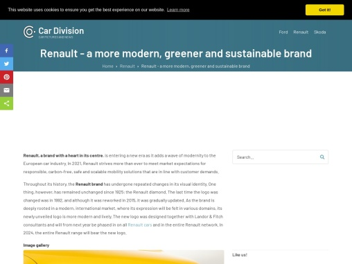 Renault – a more modern, greener and sustainable brand