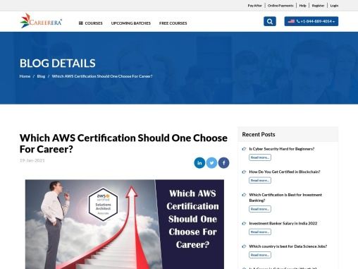Which AWS Certification Should One Choose For Career?