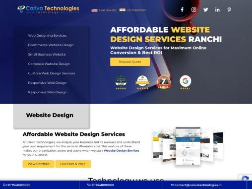 Affordable Website Design Services Ranchi