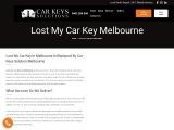 Lost My Car Key Melbourne I Car Keys Solution