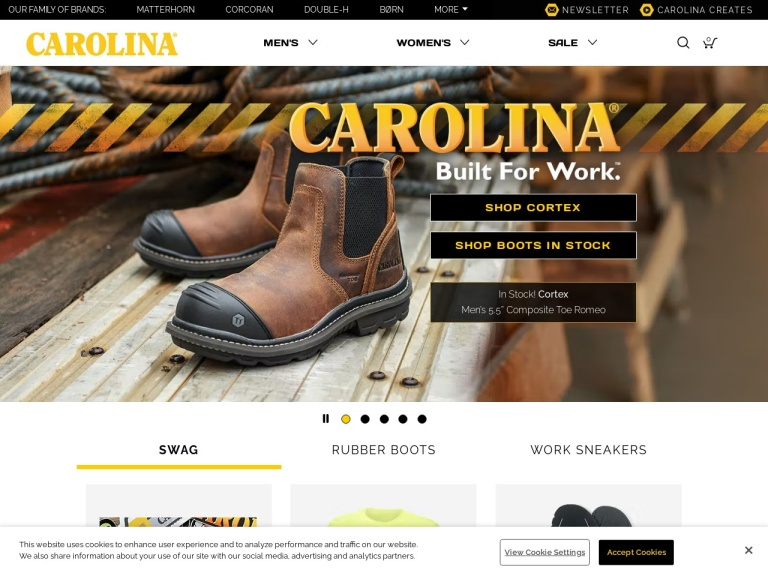 Carolina Footwear screenshot