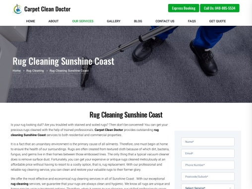 Professional Rug Cleaning in Sunshine Coast