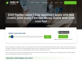 200 Dollar Payday Loans for Emergency Use
