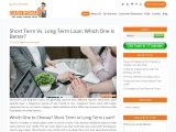 Short Term Vs. Long Term Loan: Which One Is Better?