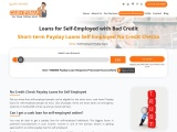 No Credit Check Payday Loans for Self Employed