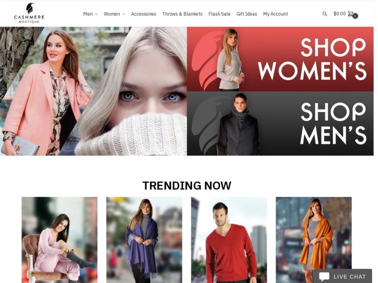Cashmere Boutique screenshot