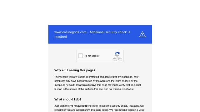 Screenshot of www.casinogods.com website
