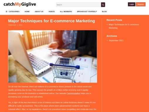 Major Techniques for E-commerce Marketing – catchmygiglive