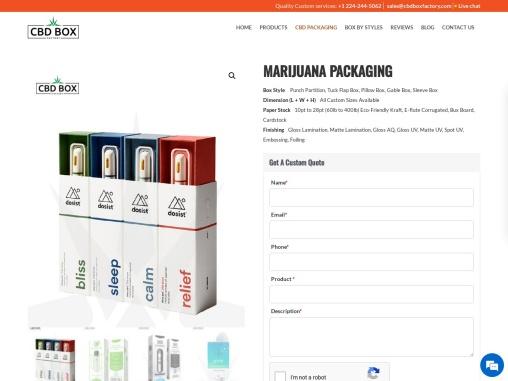 Marijuana Packaging | Custom Marijuana Boxes | Wholesale Marijuana Packaging Boxes