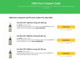 CBD Pure Coupon Code | CBD  Pure Coupon Codes